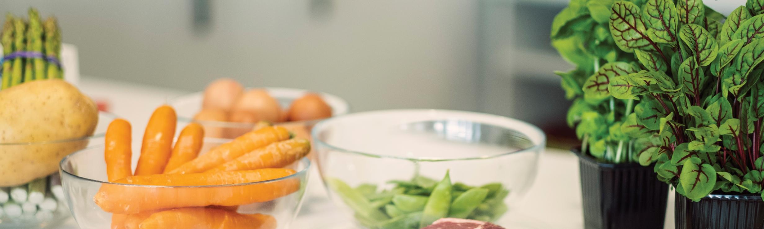 warzywa przygotowane przez kucharza do wynajęcia